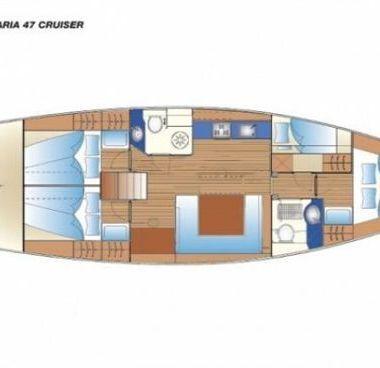 Zeilboot Bavaria Cruiser 47 (2009)-2