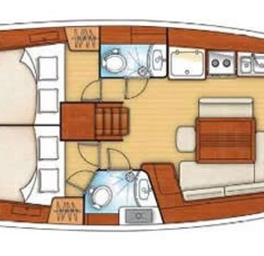 Zeilboot Beneteau Oceanis 43 (2012)-4