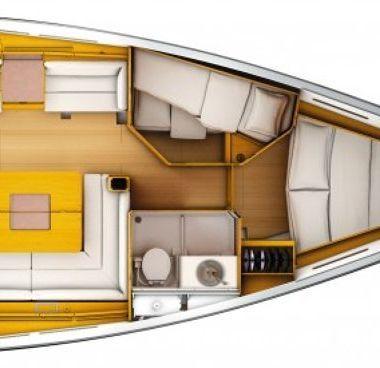 Zeilboot Jeanneau Sun Odyssey 439 Performance (2011)-4