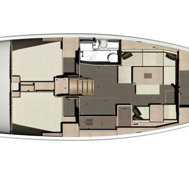 Zeilboot Dufour 410 Grand Large (2015)-4