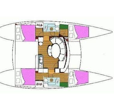 Catamaran Lagoon 380 S2 (2006)-2