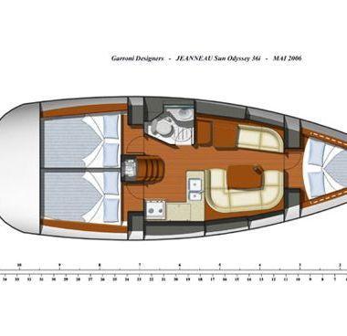 Segelboot Jeanneau Sun Odyssey 36 i (2009)-4