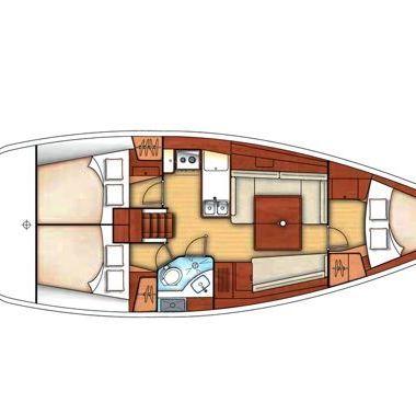 Barca a vela Beneteau Oceanis 37 (2010)-4