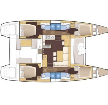 Catamaran Fountaine Pajot Helia 44 (2013)-2