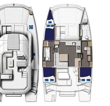Motor Catamaran Leopard Moorings 433 (2017)-2