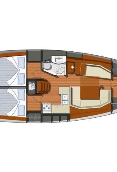 Zeilboot Jeanneau Sun Odyssey 37 (2002)-3